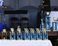 Car Show trophies Royalty Free Stock Photography