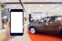 Car showroom blur background Stock Image