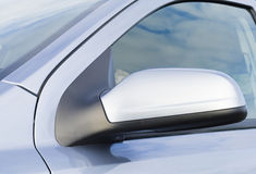 A car side mirror in a close up. Angle royalty free stock image