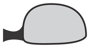Car Side Mirror Stock Photography