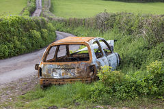 Car side of road Royalty Free Stock Images