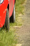 Car is on the sidelines Royalty Free Stock Photo
