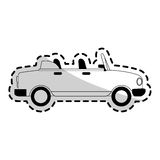 Car sideview black and grey icon image. Convertible car sideview black and grey icon image vector illustration design Stock Image