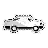 Car sideview black and grey icon image Royalty Free Stock Image