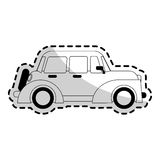 Car sideview black and grey icon image Royalty Free Stock Photo