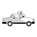 Car sideview black and grey icon image Stock Photography