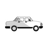 Car sideview black and grey icon image Royalty Free Stock Photos