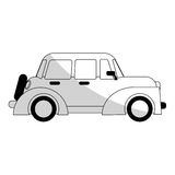 Car sideview black and grey icon image Royalty Free Stock Images