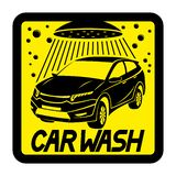 Car wash yellow sign. Car wash yellow sign on a white background royalty free illustration