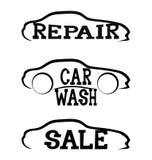 Car signs. royalty free illustration