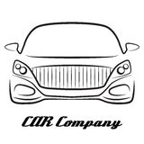 Car sihlouette vehicle auto dealer company logo icon Royalty Free Stock Photography