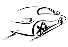 Car silhouette. For race sports design Stock Images