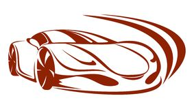 Car silhouette. Fast moving car. Car silhouette Royalty Free Stock Photo