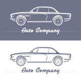 Car silhouette on Light slate gray background. Stock Photos