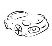 Car silhouette logo sketch vector Royalty Free Stock Photos