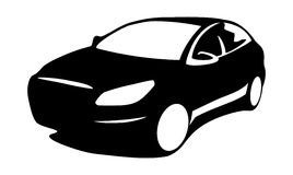 Car silhouette modern Royalty Free Stock Images