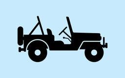 Car silhouette Stock Image