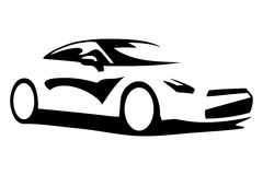 Car silhouette. For print or for site Stock Photos