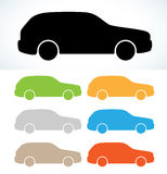 Car silhouette Royalty Free Stock Image