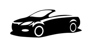 Car silhouette vector. Side view Royalty Free Stock Photos