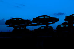 Car silhouettes Royalty Free Stock Photos