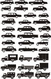 Car silhouettes Royalty Free Stock Photo