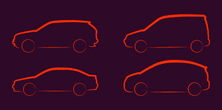 Car silhouettes Royalty Free Stock Photography