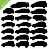 Car silhouettes vector Stock Photos