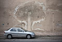 car silver Στοκ φωτογραφία με δικαίωμα ελεύθερης χρήσης