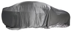 Car and silver cloth Royalty Free Stock Image