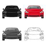 Car single icon in cartoon,outline,black style for design.Car maintenance station vector symbol stock illustration web. Royalty Free Stock Images