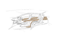 Car sketch Royalty Free Stock Photos