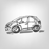 01 Car sketch. Vector illustration of black car sketch image Royalty Free Stock Images