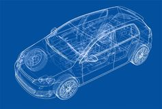 Car sketch. Vector Royalty Free Stock Images