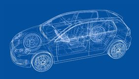 Car sketch. Vector Royalty Free Stock Image