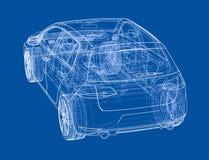 Car sketch. Vector Stock Image