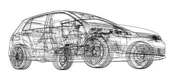 Car sketch. Vector Stock Images