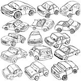 Car sketches Royalty Free Stock Photography