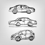 Car sketches Stock Photography