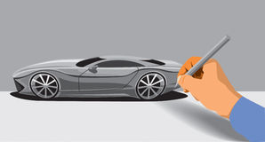 Car sketching Royalty Free Stock Images