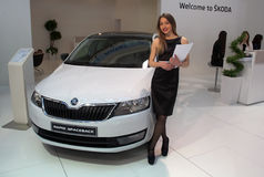 Car Skoda RAPID SPACEBACK Stock Image