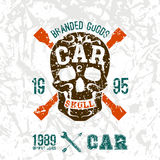 Car skull emblem Royalty Free Stock Image
