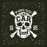 Car skull emblem Royalty Free Stock Photos