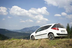 Car with sky background Stock Photography