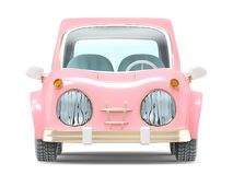 Free Car Small Cartoon Pink Front Stock Photography - 148044402