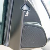 Car small speaker, tweeter on the doors stock images