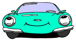 Car smile. Hand drawn cartoon car smile Stock Photo