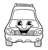 Car with smile Royalty Free Stock Photography