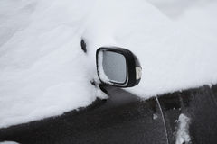 Car in Snow. After Blizzard Stock Image