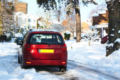 Car in snow Stock Photos